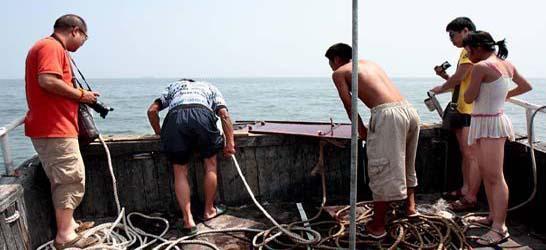 北戴河出海打鱼