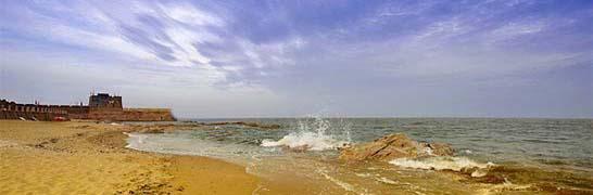 北戴河海边,海滩,沙滩,宾馆