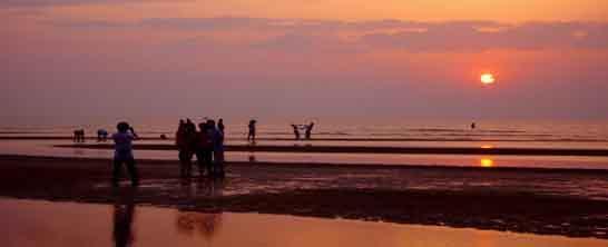 北戴河看日落,地点,时间
