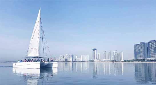 北戴河帆船出海