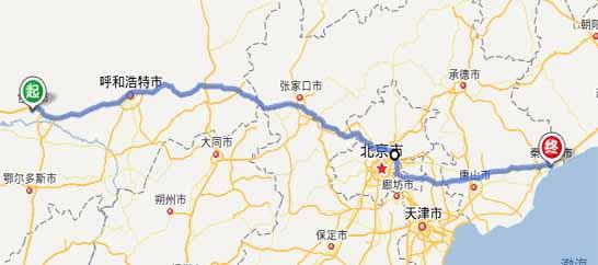 包头到秦皇岛自驾游路线:包头—京藏高速—北京北六环—东六环—