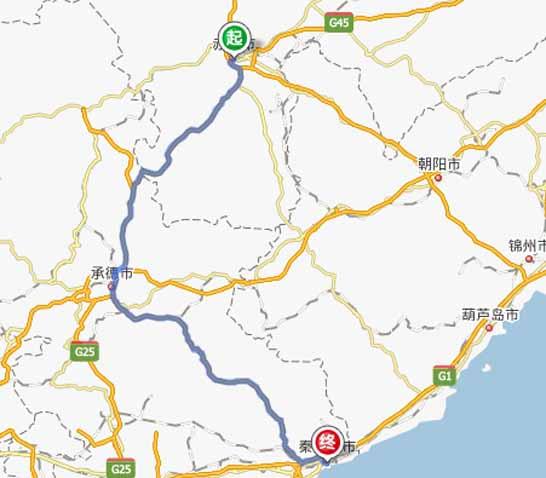 赤峰到秦皇岛自驾游,路线,距离,费用,攻略