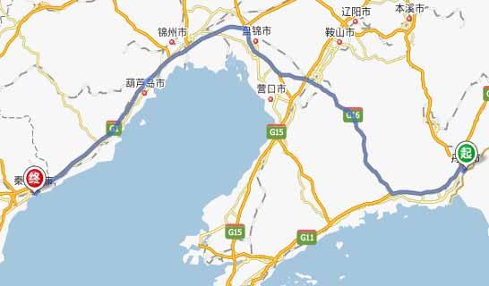 丹东到秦皇岛自驾游路线:丹东—鹤大高速——丹锡高速——京哈高速