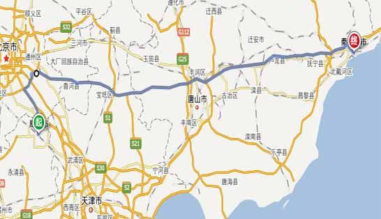 廊坊到秦皇岛自驾游路线:廊坊——北京——秦皇岛