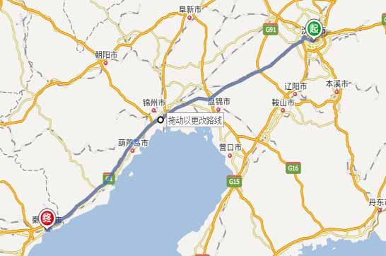 沈阳到秦皇岛自驾游路线:沈阳——京哈高速——秦皇岛